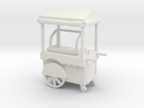 Food Cart 01. O scale (1:43) in White Natural Versatile Plastic