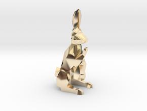 Ferz-Rider (Bishop) - [1,1] White Warren in 14k Gold Plated Brass