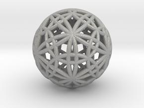 """IcosaDodecasphere 1.7"""" in Aluminum"""