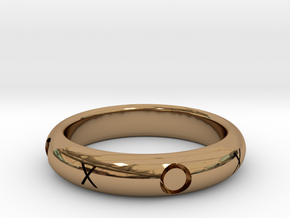 XOXO Ring in Polished Brass: 10.25 / 62.125