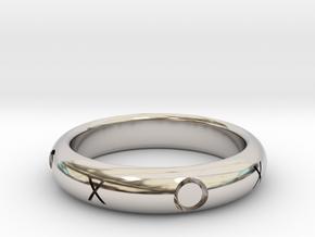 XOXO Ring in Rhodium Plated Brass: 10.25 / 62.125
