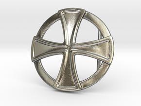 Templar Cross Belt Buckle in Polished Silver