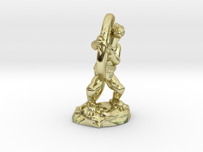 Kobold Archer Crouching  in 18k Gold
