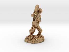 Kobold Archer Crouching  in Polished Brass