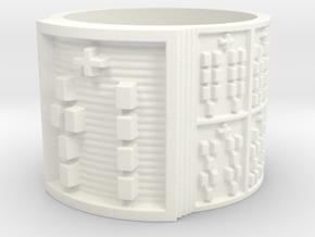 OGBETUA Ring Size 14 in White Processed Versatile Plastic