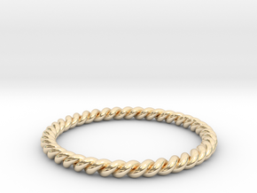 TWIST BAND RING in 14K Yellow Gold: 6 / 51.5