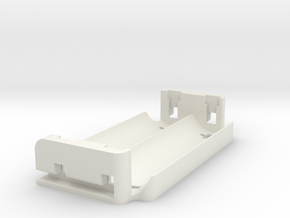 Dual 18650 Parallel Sled for Alpinetech P+ in White Natural Versatile Plastic