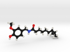 Capsaicin Molecule Model. 3 Sizes. in Full Color Sandstone: 1:10
