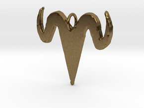 Antlers of Horns in Natural Bronze