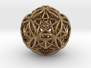 "Dodecasphere w/ Icosahedron & Star Faced Dodeca 2"" in Natural Brass"
