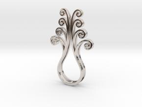 Octopus Meanders - Pendant in Platinum