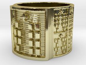 OYEKUNDI Ring Size 14 in 18k Gold Plated Brass