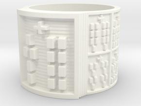 OYEKUNTESIA Ring Size 13.5 in White Processed Versatile Plastic