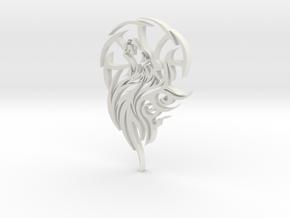 Wolf Ornament in White Natural Versatile Plastic