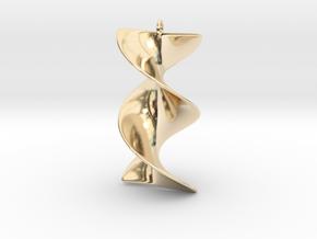 Elegant Z-DNA in 14k Gold Plated Brass