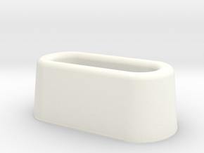 Huey Exhaust (Hirobo)  in White Processed Versatile Plastic