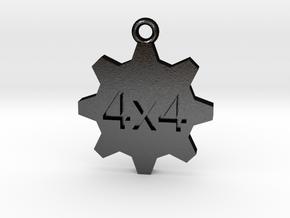 4x4 in Matte Black Steel