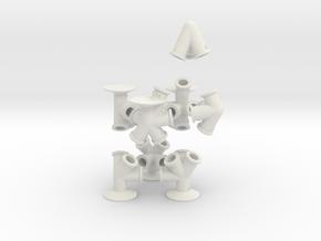 TrussFab Bottle Chair in White Natural Versatile Plastic
