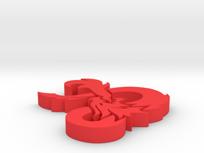 D&D Ampersand in Red Processed Versatile Plastic