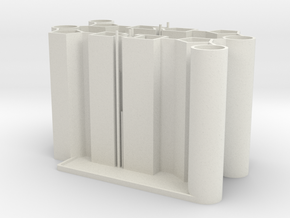 DNA Pencil Holder in White Natural Versatile Plastic