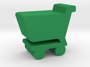 Game Piece, Shopping Cart in Green Strong & Flexible Polished