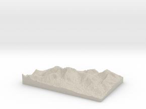 Model of Otgon Tenger Uul in Sandstone