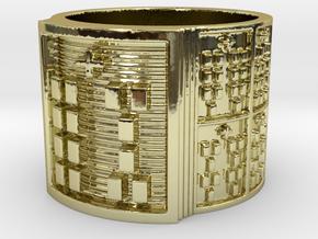 IWORIYEKUN Ring Size 13.5 in 18k Gold Plated Brass