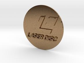 Circle Laserdisc Logo in Natural Brass