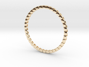 WAVE 09c5 in 14k Gold Plated Brass