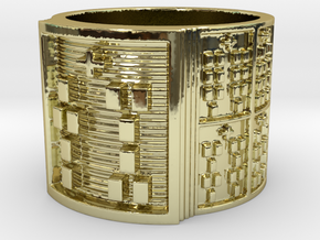 IWORITURA Ring Size 13.5 in 18k Gold Plated Brass