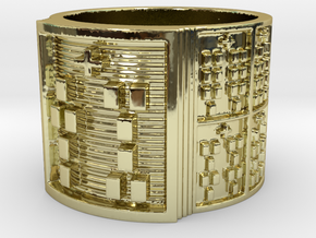 IWORITURA Ring Size 14 in 18k Gold Plated Brass