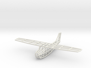 Cessna Wireframe in White Natural Versatile Plastic
