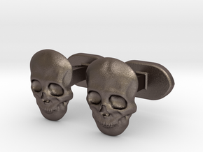 Skull face cufflinks in Stainless Steel