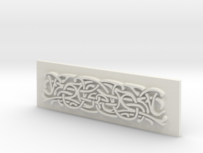 Thor Hammer (Mjolnir) Scroll panel in White Natural Versatile Plastic
