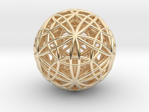 IcosaDodecasphere w/ Stellated IcosiDodecahedron 1 in 14K Yellow Gold