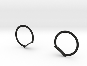 MICKEY RING EARS FOR MINI COOPER DASHBOARD in Black Strong & Flexible: Medium