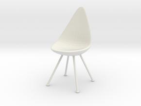 Miniature Drop Chair - Arne Jacobsen in White Natural Versatile Plastic