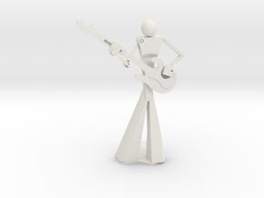Smooth Guitarist in White Natural Versatile Plastic