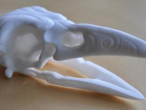 Skrimshaw Crowskull in White Natural Versatile Plastic