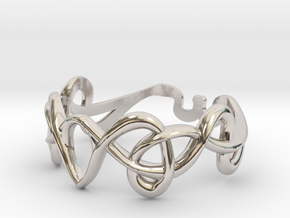 Art nouveau ring  in Rhodium Plated Brass: 7 / 54
