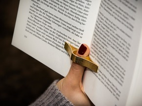 page spreader in Polished Gold Steel