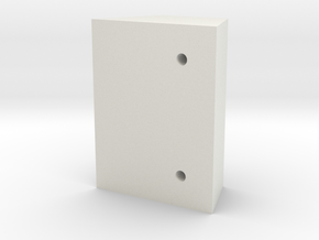 Bruder 574 Loader - FrontTopHolesTemplate in White Natural Versatile Plastic