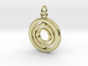 "Rotating Suspension ""Orbit"" in 18k Gold Plated Brass"