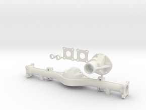 Hilux Rear Axle Bottom Leaf Attachment in White Natural Versatile Plastic