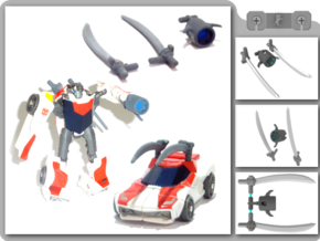 Legion Wheeljack Upgrade Kit in White Strong & Flexible