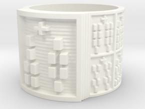 ODIROSO Ring Size 14 in White Processed Versatile Plastic
