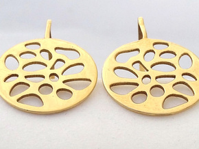 PIERCED EARRINGS in Polished Brass