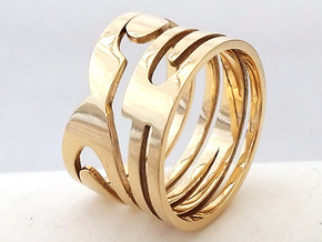 NUMBER 2 RING Size 7 in Polished Brass