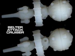 Belter Attack Cruiser v2 in White Acrylic