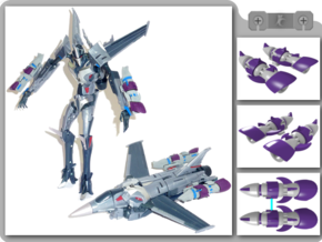 TFP Starscream Fusion Boosters in White Natural Versatile Plastic